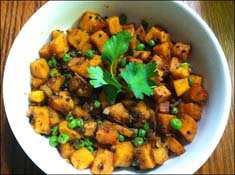 Sweet Potato and Pea Curry