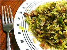 Sautéed Shredded Brussels Sprouts